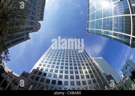 Canada Square, Canary Wharf, West India Docks, Docklands, London, England, United Kingdom, Europe - Stock Photo