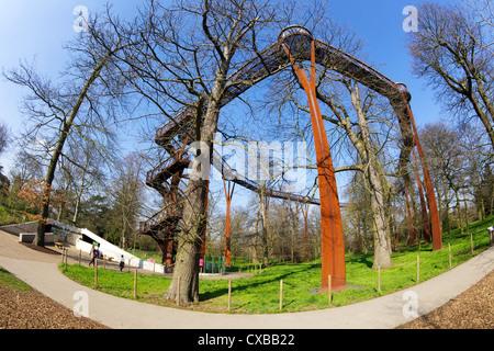 Rhizotron and Xstrata Treetop Walkway, Royal Botanic Gardens, Kew, UNESCO World Heritage Site, London, England, - Stock Photo