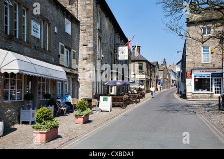 The Square at Grassington, Wharfedale, Yorkshire Dales, Yorkshire, England, United Kingdom, Europe - Stock Photo