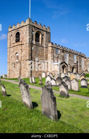 St. Mary's Parish Church at Whitby, North Yorkshire, Yorkshire, England, United Kingdom, Europe - Stock Photo