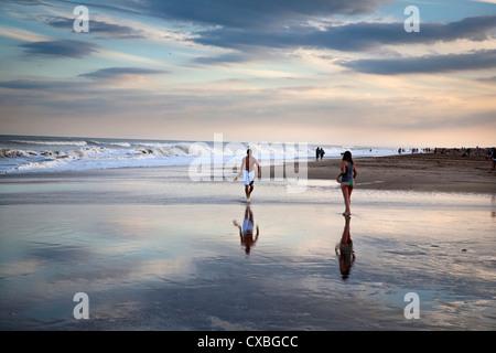 Beach, Mar de las Pampas, Argentina. - Stock Photo