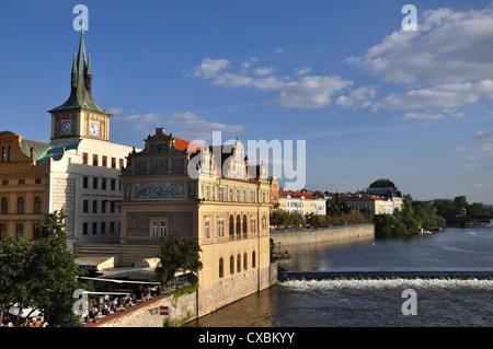 The Smetana Museum on the banks of the River Vltava, Prague, Czech Republic - Stock Photo