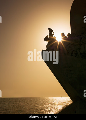 Monument to Discoveries, Belem, Lisbon, Portugal, Europe - Stock Photo