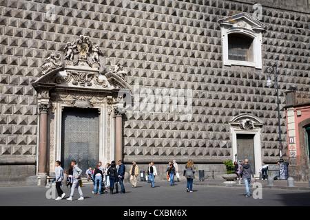 Gesu Nuovo Church in Naples, Campania, Italy, Europe - Stock Photo