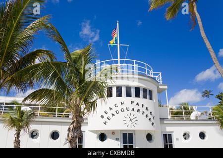 Beach Patrol Headquarters on South Beach, City of Miami Beach, Florida, United States of America, North America - Stock Photo
