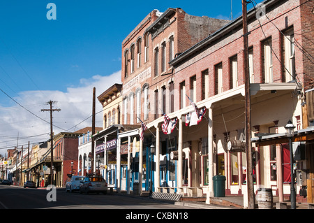Historic downtown Virginia City, Nevada, United States of America, North America - Stock Photo