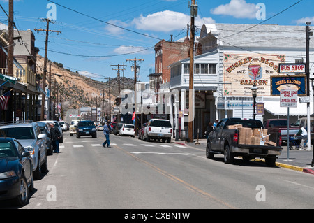 Historic downtown Virgina City, Nevada, United States of America, North America - Stock Photo