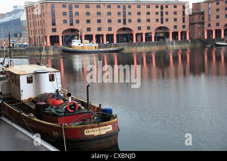 Albert Dock, Docks, UNESCO World Heritage Site, Liverpool, Merseyside, England, United Kingdom, Europe - Stock Photo