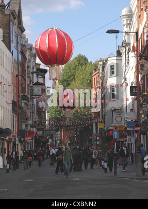 Wardour Street Chinatown Soho London - Stock Photo