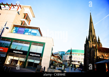 St Martins church Birmingham Early Winters Morning - Stock Photo