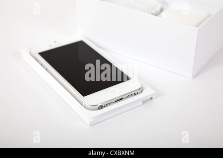 New iphone 5 released by apple september 2012. - Stock Photo