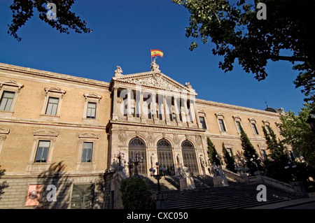 National Library Madrid Spain - Stock Photo