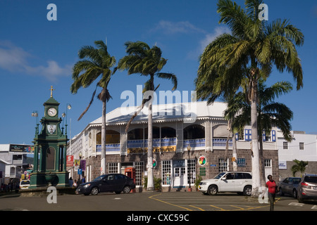The Circus, Basseterre, St. Kitts and Nevis, West Indies, Caribbean, Central America - Stock Photo
