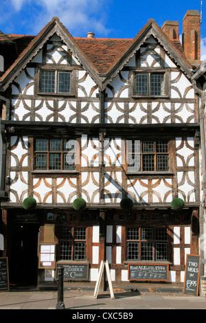 Garrick Inn, Stratford-upon-Avon, Warwickshire, England, United Kingdom, Europe - Stock Photo