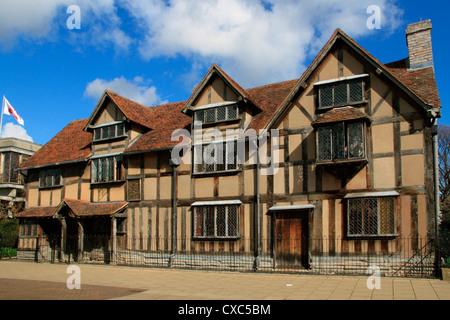 Shakespeare's birthplace, Stratford-upon-Avon, Warwickshire, England, United Kingdom, Europe - Stock Photo