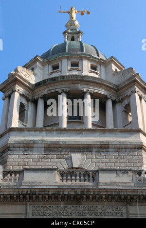Central Criminal Court, Old Bailey, London, England, United Kingdom, Europe - Stock Photo