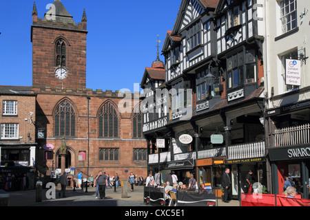 Bridge Street restaurants, Chester, Cheshire, England, United Kingdom, Europe - Stock Photo
