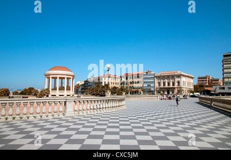 Mascagni Terrace (Terrazza Mascagni), Livorno, Tuscany, Italy, Europe - Stock Photo