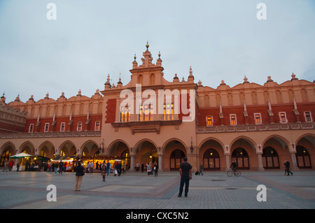 Sukiennice the cloth hall exterior at Rynek Glowny main market square old town Krakow city Malopolska region Poland - Stock Photo
