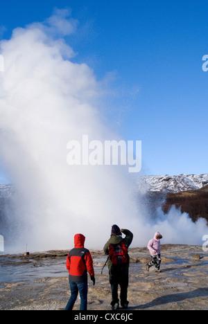 Iceland, the geyser Strokkur - Stock Photo