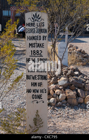 Boot Hill Cemetery, Tombstone, Arizona, United States of America, North America - Stock Photo