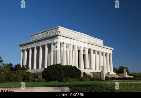 The Lincoln Memorial, Washington D.C., United States of America, North America - Stock Photo