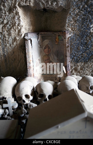 The Fontanelle Cemetery in the Sanita Quarter, Naples, Campania, Italy, Europe - Stock Photo