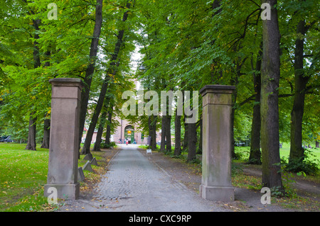 Road leading to main prison Gronlandspark park Gronland district central Oslo Norway Europe - Stock Photo