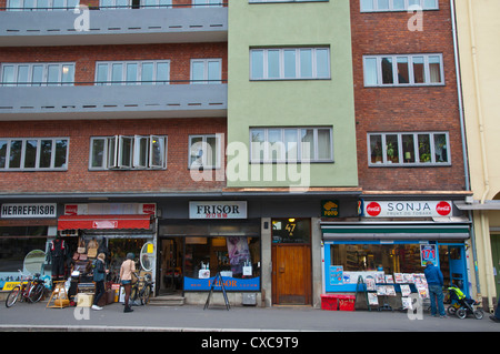 Gronlandsleiret street Gronland district central Oslo Norway Europe - Stock Photo