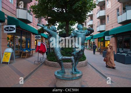 Tone This sculpture (1992) along Smalgangen pedestrian street Gronland district central Oslo Norway Europe - Stock Photo