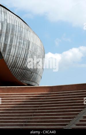 Auditorium Parco della Musica, designed by architect Renzo Piano. Rome, Italy, Europe. - Stock Photo