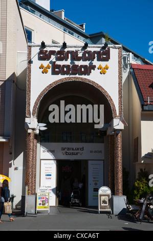 Gronland Basar shopping centre exterior Gronlandsleiret street Gronland district central Oslo Norway Europe - Stock Photo