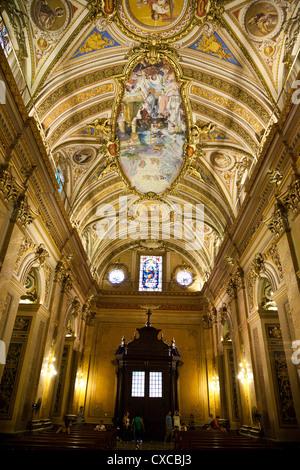 Interior of Iglesia Catedral at Plaza San Martin, Cordoba City, Cordoba Province, Argentina. - Stock Photo