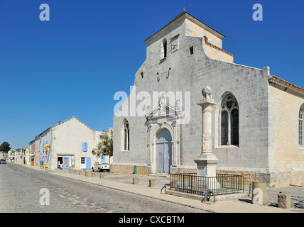 The church église Saint-Pierre-et-Saint-Paul at Brouage / Hiers-Brouage, Charente-Maritime, France - Stock Photo