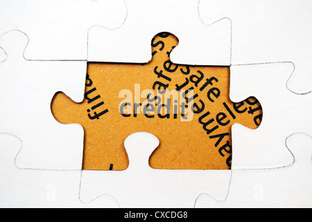 Credit text on puzzle - Stock Photo