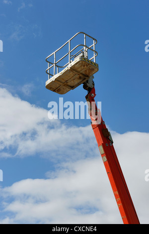 Telescopic boom lift platform - Stock Photo