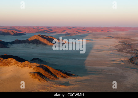 Aerial view, Namib Naukluft Park, Namib Desert, Namibia, Africa - Stock Photo