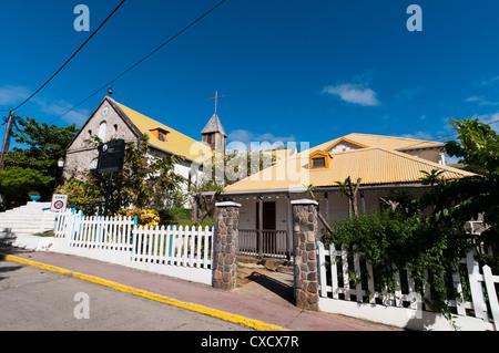 Le Bourg, Iles des Saintes, Terre de Haut, Guadeloupe, French Caribbean, France, West Indies, Central America - Stock Photo