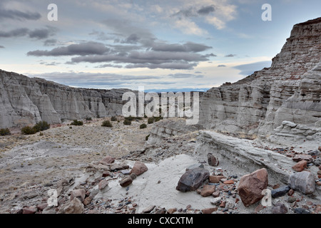 White rock badlands, Carson National Forest, New Mexico, United States of America, North America - Stock Photo