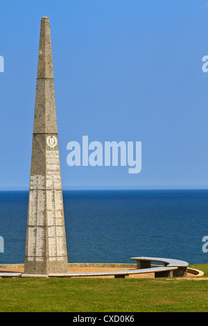Omaha Beach Memorial of the US First Infantry division, Colleville-Sur-Mer, Normandy, France - Stock Photo