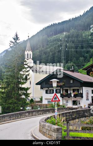 Ginzling, Tyrol, Austria The Church - Stock Photo