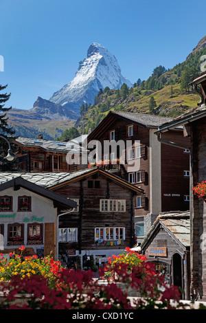 Matterhorn, Zermatt, Canton Valais, Swiss Alps, Switzerland, Europe - Stock Photo