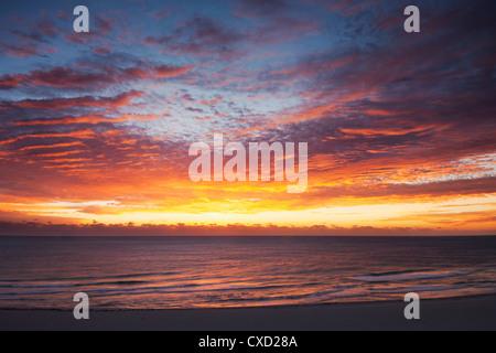 Sunrise over the Atlantic Ocean in Miami Beach. Florida, United States of America, North America - Stock Photo