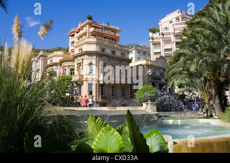 Casino Gardens, Monte Carlo, Monaco, Europe - Stock Photo