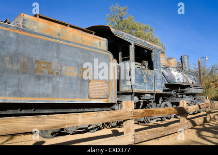 Locomotive in Furnace Creek Museum, Death Valley National Park, California, United States of America, North America - Stock Photo