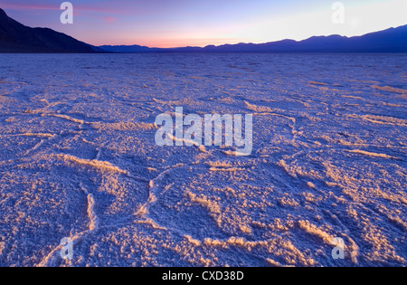 Badwater salt flats in Death Valley National Park, California, United States of America, North America - Stock Photo