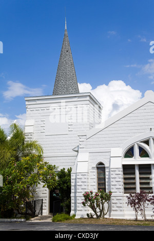 Elmslie Memorial United Church, George Town, Grand Cayman, Cayman Islands, Greater Antilles, West Indies - Stock Photo