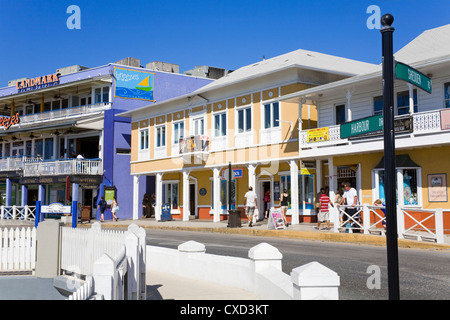 Stores on Harbour Drive, George Town, Grand Cayman, Cayman Islands, Greater Antilles, West Indies, Caribbean, Central - Stock Photo