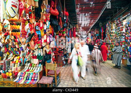 In the souk, Marrakech, Morocco, North Africa, Africa - Stock Photo