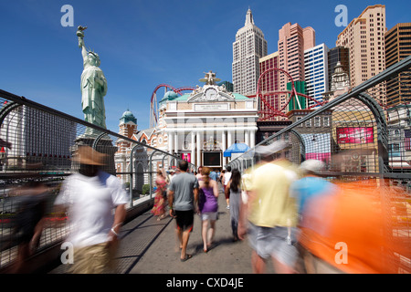 Hotels and casinos along The Strip, Las Vegas, Nevada, United States of America, North America - Stock Photo